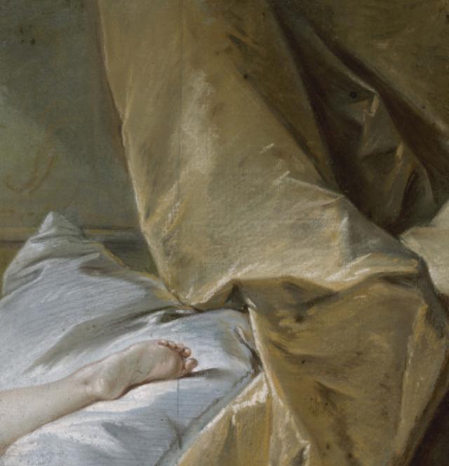 """""""Etude de pied pour l'odalisque blonde"""" par François Boucher dans le cadre de l'exposition """"L'empire des sens de Boucher à Greuze"""" au musée Cognacq-Jay à Paris / © Musée Carnavalet - Paris Musées"""