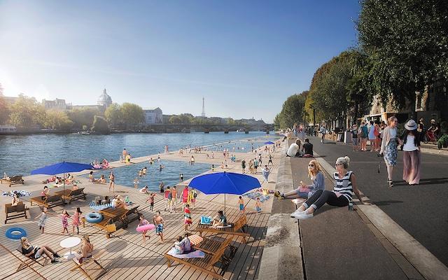 Projet de baignade dans la Seine près du Pont neuf / © Ville de Paris - Apur Luxigon