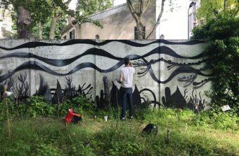 Une expo Land Art dans le labyrinthe végétal des Murs à Pêches à Montreuil