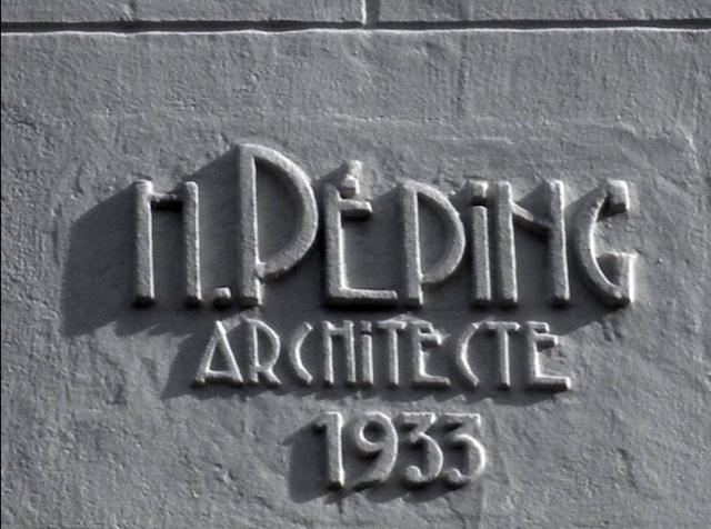Signature de l'architecte Henri Péping à Aubervilliers / © Papyrus  - Département de la Seine-Saint-Denis