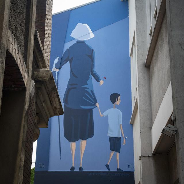 Street art au détour d'une rue du Pré-Saint-Gervais / © Jérômine Derigny pour Enlarge your Paris