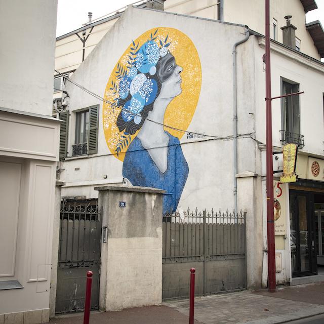 Oeuvre street art au Pré-Saint-Gervais / © Joséphine Lebard pour Enlarge your Paris