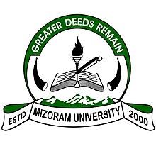 Mizoram University Aizawl logo