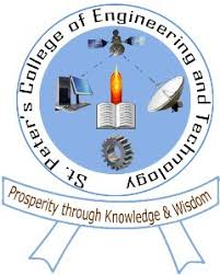 St Peter's College of Engineering and Technology Avadi LOGO