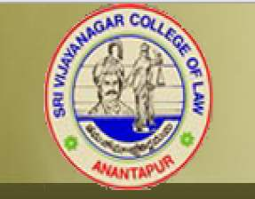 Sri Vijayanagar College of Law anantapur logo