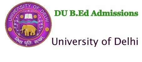 DU-B.Ed-Admission-Notification