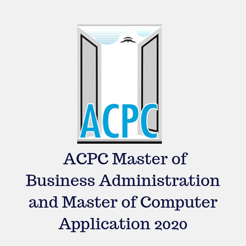 ACPC for Master of Business Administration and Master of Computer Application 2020