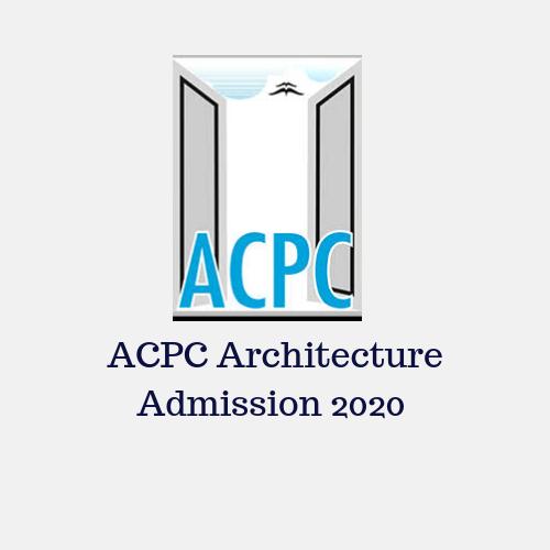 ACPC for Architecture Admission 2020