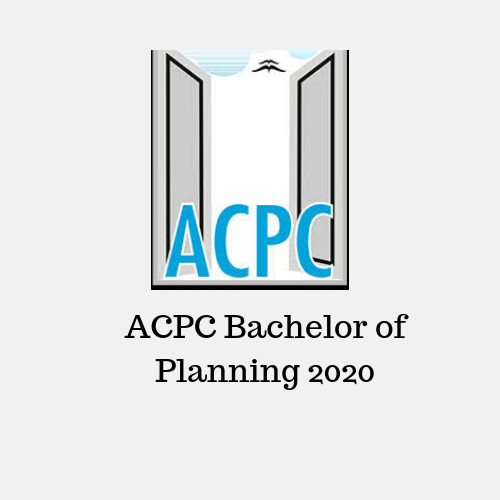 ACPC Bachelor of Planning 2020