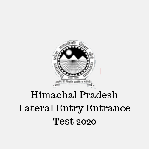 Himachal Pradesh Lateral Entry Entrance Test 2020