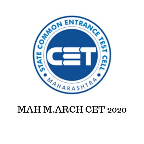 MAH M.ARCH CET 2020