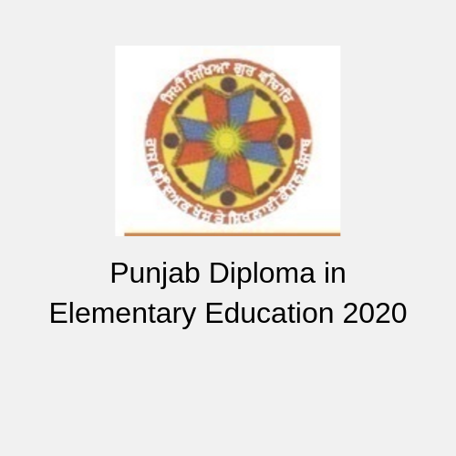 Punjab Diploma in Elementary Education 2020
