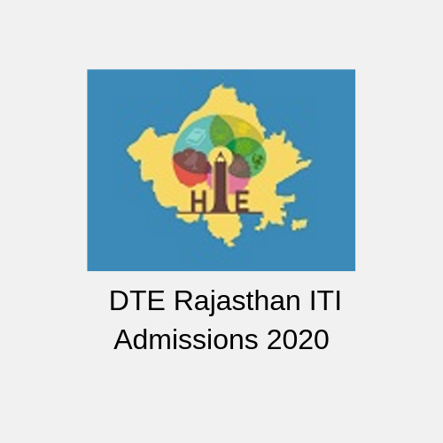 DTE Rajasthan ITI Admissions 2020