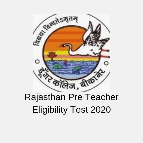 Rajasthan Pre Teacher Eligibility Test 2020