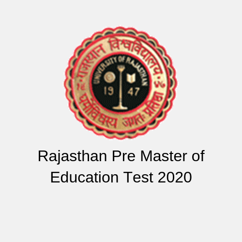 Rajasthan Pre Master of Education Test 2020