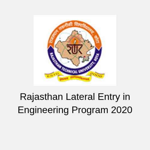 Rajasthan Lateral Entry in Engineering Program 2020