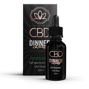 CBD Dinner Lady Oral Tincture Peppermint 30ml