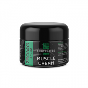 Limitless CBD Muscle Cream 750 mg 4 oz Front View 1
