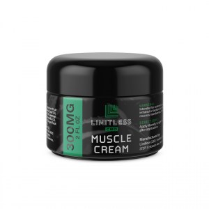 Limitless CBD Muscle Cream 300 mg 2 oz Front View 1
