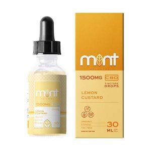 Mint Wellness Cbd Lemon Custard Tincture Drops 1500MG