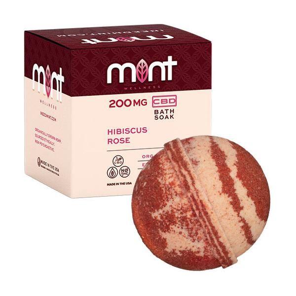 Mint Cbd Hibiscus Rose Bath Bomb 200MG