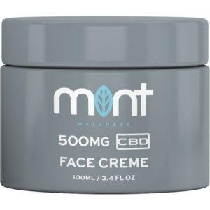 Mint CBD Face Cream Jar Render