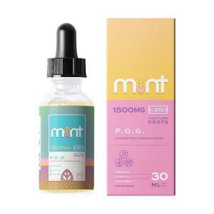 Mint Wellness CBD Pog Tincture Drops 1500mg