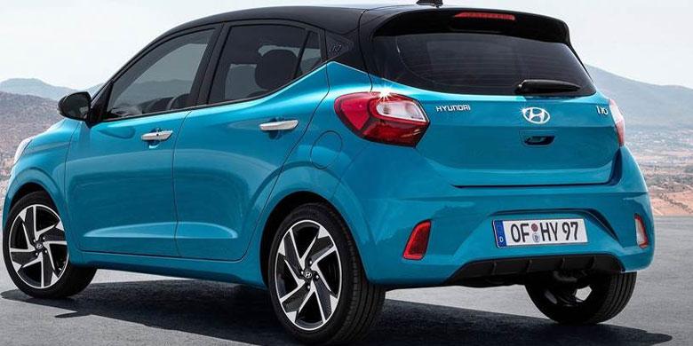 Hyundai i10 bản màu xanh