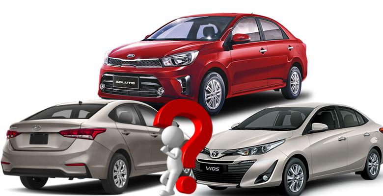 So sánh xe Kia Soluto với Toyota Vios và Hyundai Accent