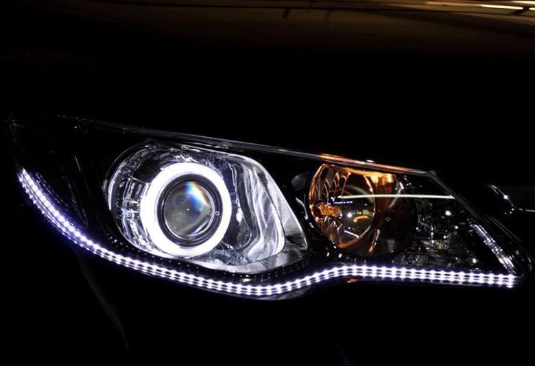 thay đổi hệ thống đèn xe