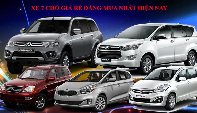 Top 5 dòng xe 7 chỗ giá rẻ nhất Việt Nam hiện nay