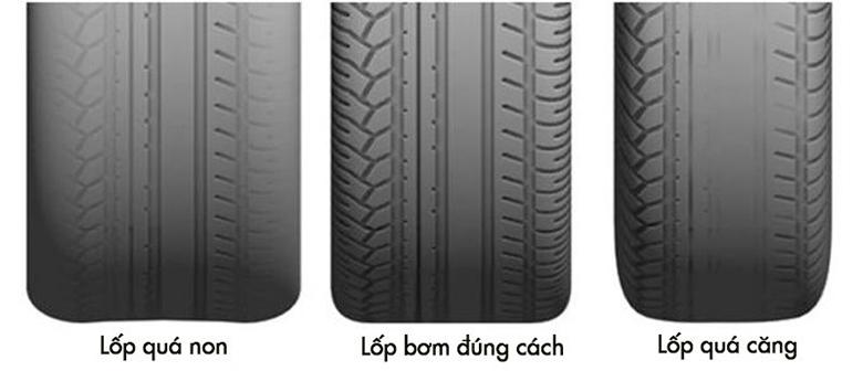 Tác hại của việc bơm lốp ô tô không đúng tiêu chuẩn