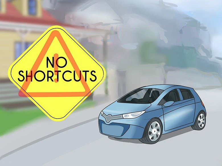 không sử dụng đường khu dân cư làm đường tắt