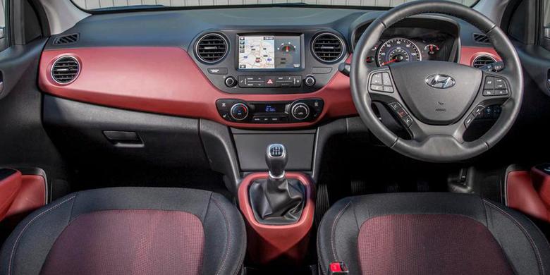 Khoang cabin xe Hyundai i10 2019
