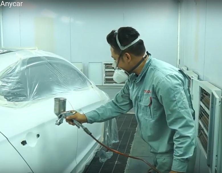 dịch vụ sơn xe ô tô công nghệ cao tại Anycar