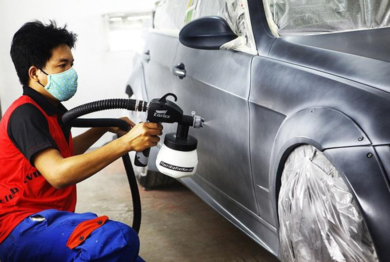 dịch vụ sơn xe ô tô công nghệ cao tại Anycar - 1