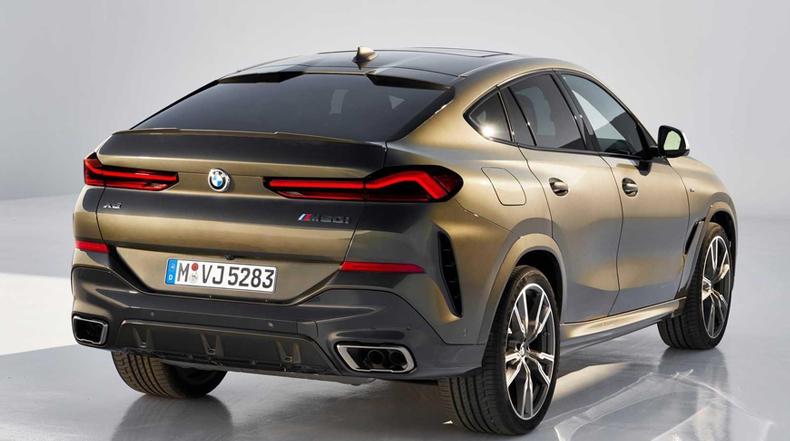 Đuôi xe BMW X6 2020