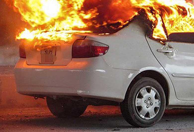 Bị cháy, nổ xe