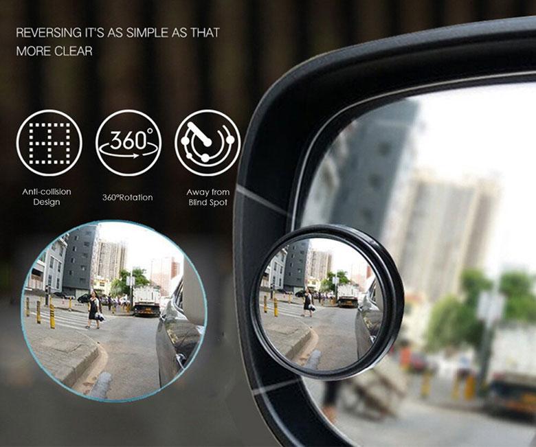 Lưu ý khi sử dụng gương cầu lồi xoá điểm mù trên xe ô tô - 3