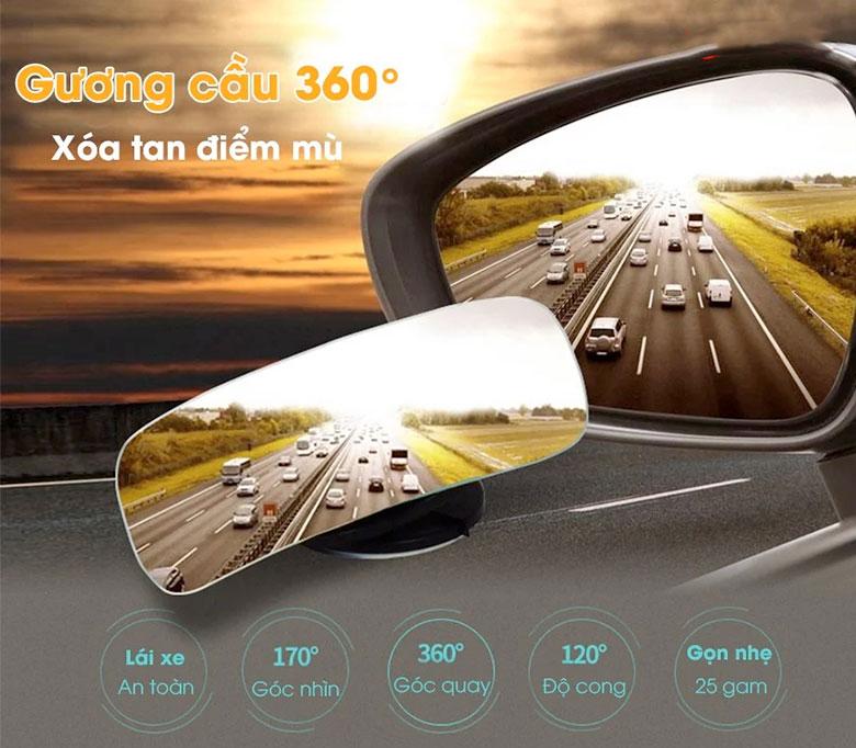 Lưu ý khi sử dụng gương cầu lồi xoá điểm mù trên xe ô tô - 10