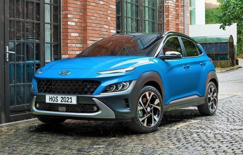 Tổng thể đầu xe Hyundai Kona 2021 khi nhìn ngang