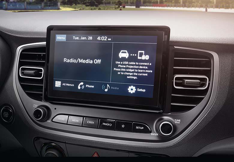 Tiện nghi trên Hyundai Accent thế hệ mới