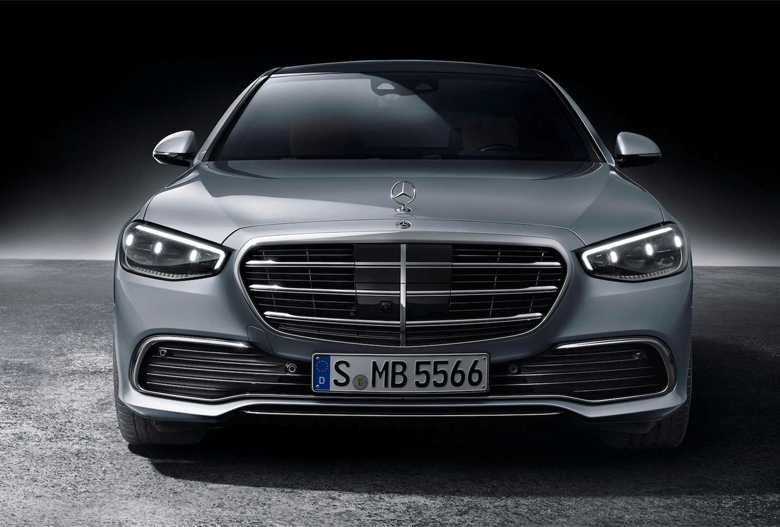 Thiết kế đầu xe Mercedes S-Class 2021