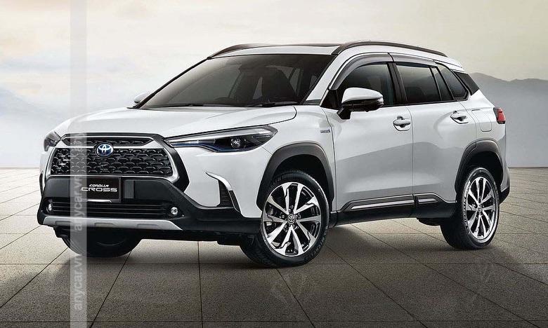 Giá xe Toyota Cross 2021 màu trắng ngọc trai sẽ đắt hơn 8 triệu đồng so với 6 màu còn lại