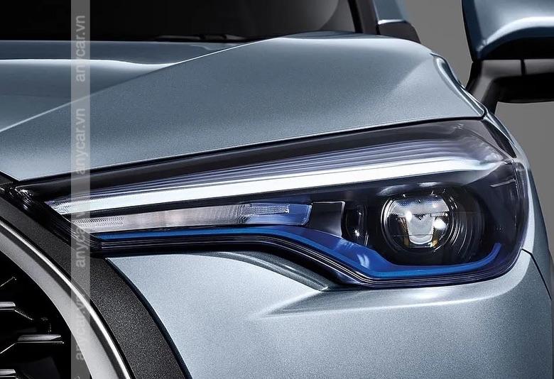 Cụm đèn pha Toyota Cross 2021 hiện đại và cá tính