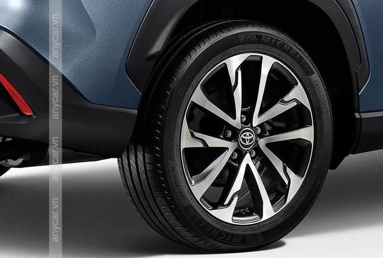 Bộ lazang của Toyota Corolla Cross có kích thước 16-17 inch tùy phiên bản