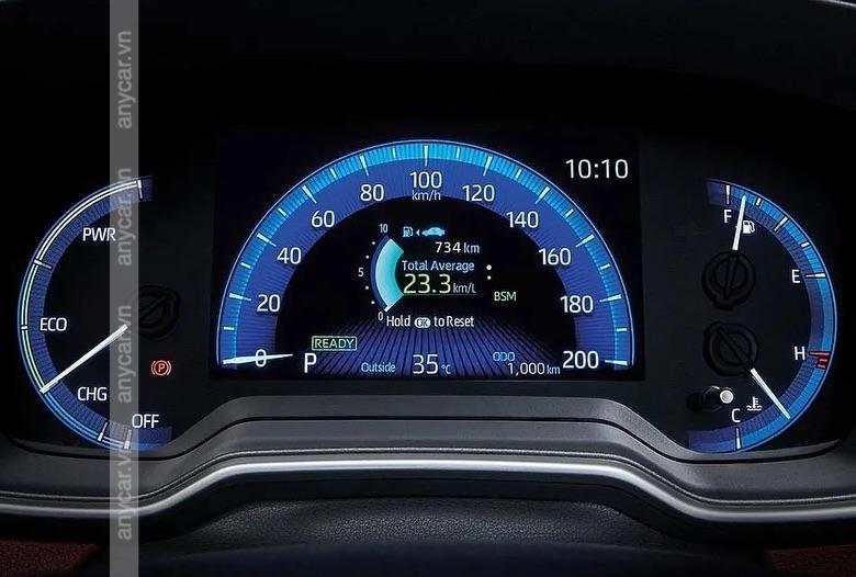 Màn hình hiển thị đa thong tin trên Toyota Corolla Cross
