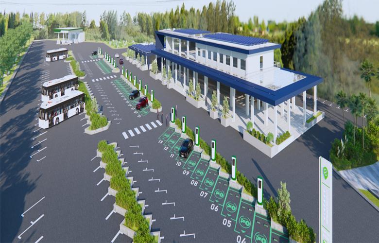Các trụ sạc sẽ được đặt tại nơi có mật độ giao thông cao, tập trung đông dân cư sinh sống, quốc lộ, trạm xăng dầu,...