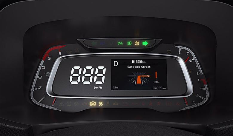 Đồng hồ đo lường trên Kia Sonet 2021 rất hiện đại