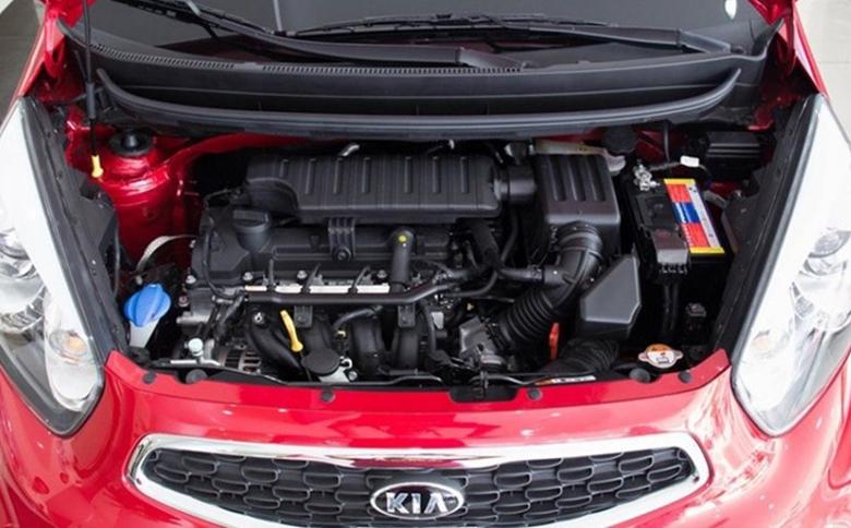 Kia Morning Luxurysử dụng động cơ xăng Kappa 1.25L 4 xi lanh